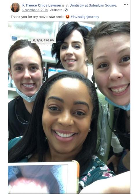 K'Treece's Invisalign Selfie