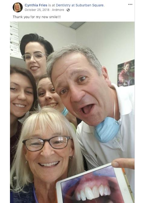 Cynthia's Invisalign Selfie