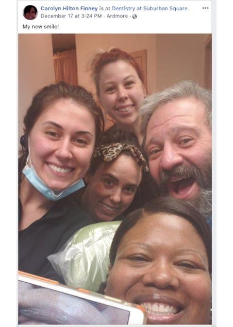 Carolyn's Invisalign Selfie